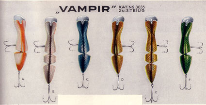 Vampir Baits from the 1933 DAM catalogue