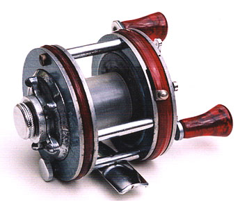 The River Expert reel shown from the brake side.