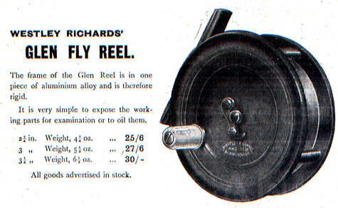 Walter Dingley Glen Fly Reel retailed by Westley Richards