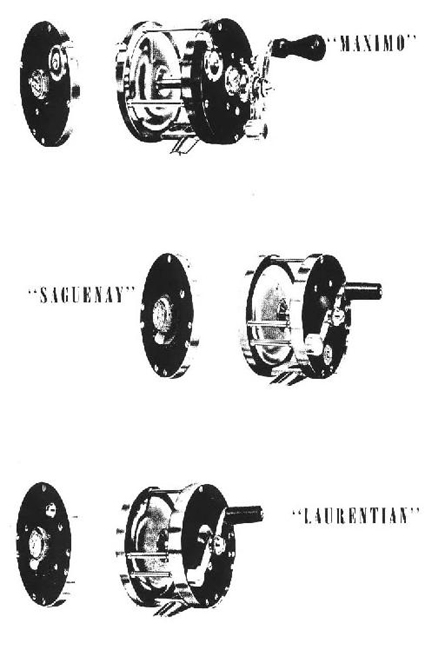The range of reels from the 1947 catalogue.