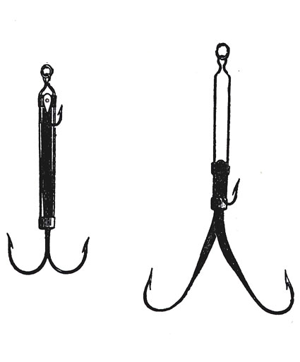Spring Snap Hook from the Complete Angler 1760 edition.